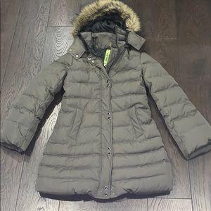 Soia & Kyo | goose down coat with zip off fur hood